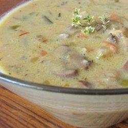 Wild About Creamy Wild Mushroom Soup recipe