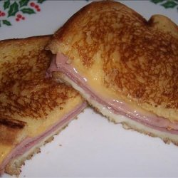 Grilled Ham and Cheese Sourdough Sandwiches recipe