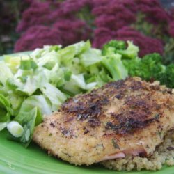 Herb Crusted Salmon With Mixed Greens Salad recipe