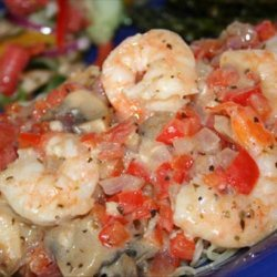 Shrimp and Veggies Italiano With Pasta recipe