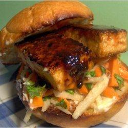 Glazed Tofu Sandwiches With Jicama Slaw recipe