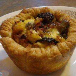 Roast Vegetable and Feta Tarts recipe