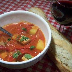 Mackerel (Or Tuna) and Red Pepper Stew recipe