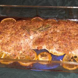 Turkey Breast Crusted With Hazelnuts and Lemon recipe