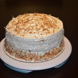 Coconut Cake With Pineapple Filling recipe