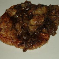 Parisian Chicken With Portabella Mushrooms and Artichokes recipe