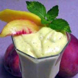 Mango, Peach Cream With a Hint of Mint recipe