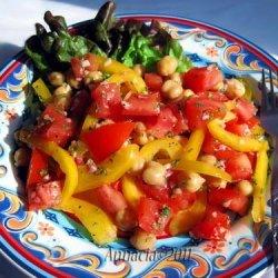Tomato and Garbanzo Salad recipe
