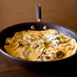 Cheese Frittata With Mushrooms and Dill recipe