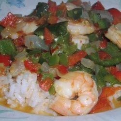 Spicy Stir Fried Shrimp and Peppers recipe
