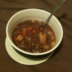 Crock Pot Beef Lentil Soup recipe