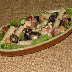Antipasto Pasta Salad W/Basil Vinaigrette recipe