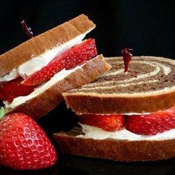 Strawberry Cream Cheese Sandwich recipe