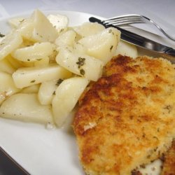 Chicken Schnitzel With Warm Potato Salad recipe