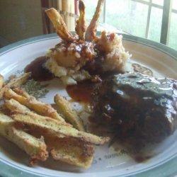 Ground Sirloin Steaks With Brown Gravy recipe
