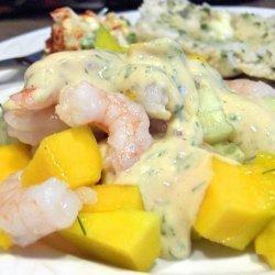Shrimp Mango and Cucumber Salad recipe