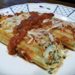 Cheesy Spinach and Mushroom Manicotti recipe