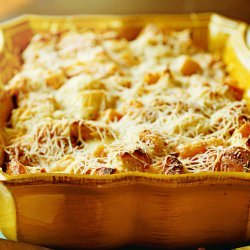 Butternut Squash and Parmesan Bread Pudding recipe