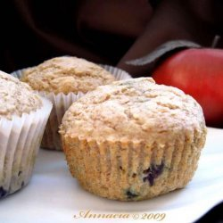 Low Cal Blueberry Applesauce Muffins recipe