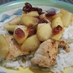 Chicken Tenders With Apple Cranberry Marsala Sauce recipe