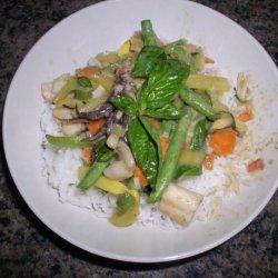 Thai Seafood Curry over Coconut Jasmine Rice recipe
