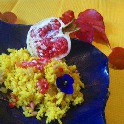 Yellow Rice Pilaf Pomegranate recipe