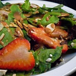 Baby Greens Salad With Strawberries and Blue Cheese recipe