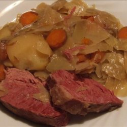 Corned Beef and Cabbage - Crock Pot recipe