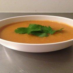 Curried Pumpkin and Sweet Potato Soup recipe
