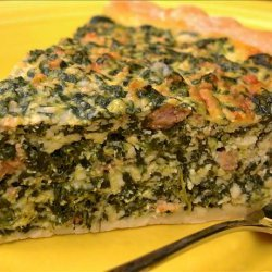 Spinach and Sausage Pie recipe