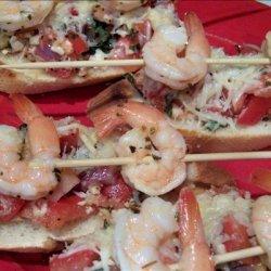 Shrimp on a Bed of Bruschetta recipe