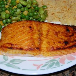 Spiced Salmon With Mustard Sauce recipe