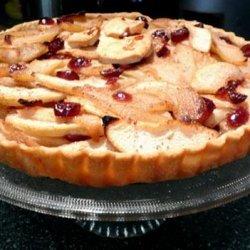Cranberry Pear Tart recipe