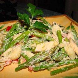 Asparagus Pasta Salad With Parmesan Dressing recipe