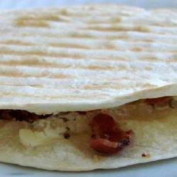 Bacon and Cream Cheese Quesadillas recipe