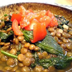 Lentils And Spinach recipe