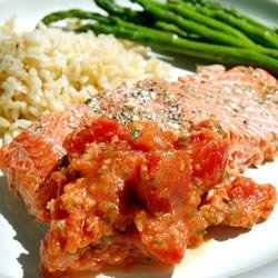 Salmon with Tomatoes recipe