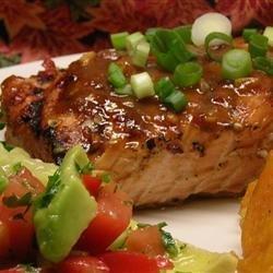 Chile Garlic BBQ Salmon recipe