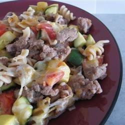 Cheesy Sausage Zucchini Casserole recipe