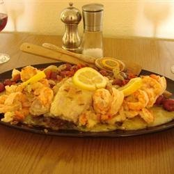 Baked Fish with Shrimp recipe