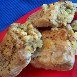 Apple Stuffed Pork Chops recipe
