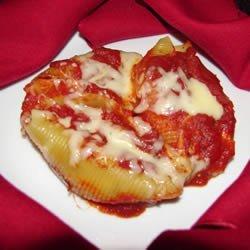 Chicken and Cheese Stuffed Jumbo Shells recipe