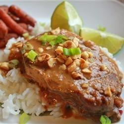 Slow Cooker Thai Peanut Pork recipe
