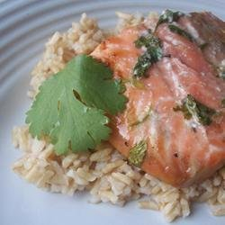 Grilled Cilantro Salmon recipe