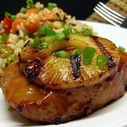 Pineapple Grilled Pork Chops recipe