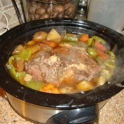 Garlic Top Sirloin Pot Roast recipe