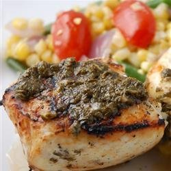 Grilled Halibut with Cilantro Garlic Butter recipe
