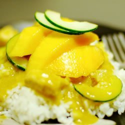 Spicy Indian Chicken and Mango Curry recipe