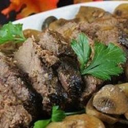 Mushroom Slow Cooker Roast Beef recipe