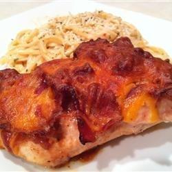 Kelsey's Cheesy Bacon Breasts recipe
